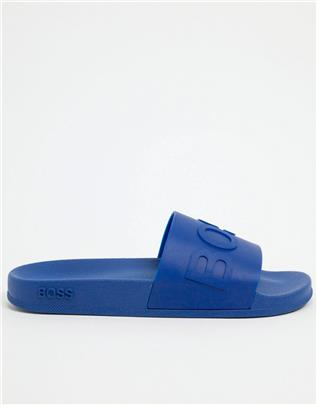BOSS - Bay - Slippers-Blauw