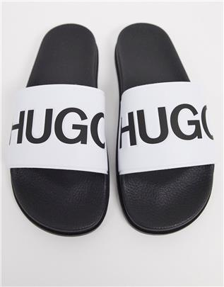 HUGO - Match - Slippers in wit