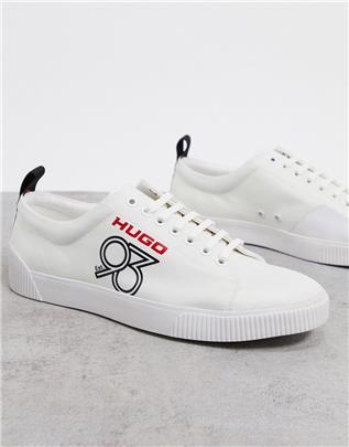 HUGO - Lage sneakers van ripstop-nylon-Wit