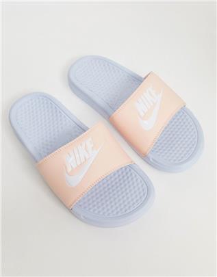 Nike - Benassi - Slippers-Marineblauw