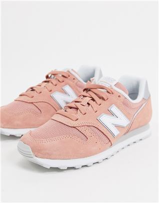 New Balance - 373 Sneakers in koraalrood-Roze