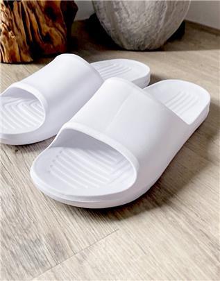 ASOS DESIGN - Slippers in wit