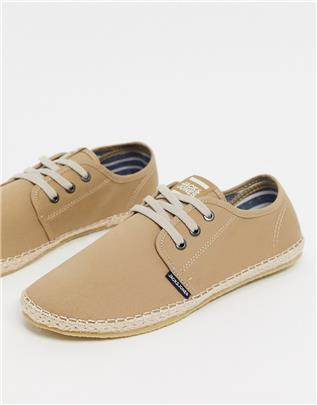 Jack & Jones - Espadrilles met veters in beige