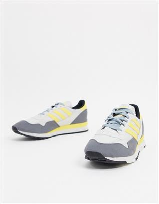 adidas Originals - Lowertree - Sneakers in grijs en geel