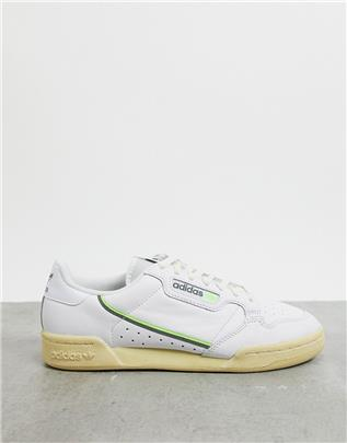 adidas Originals - Continental 80 - Sneakers in wit/grijs/groen