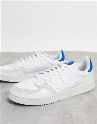 adidas Originals - Supercourt - Sneakers in wit en blauw