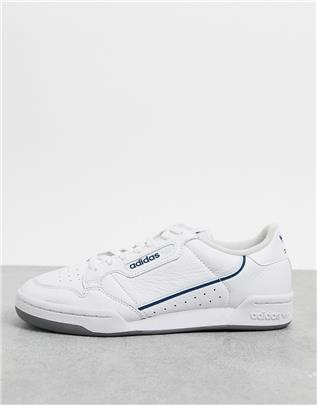 adidas Originals - Continental 80 - Sneakers in wit - Sky tint & legend marine