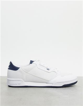 adidas Originals - Continental 80 - Sneakers in wit, grijs en marineblauw