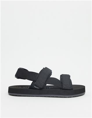 Vero Moda - Sportieve sandalen met bandjes in zwart