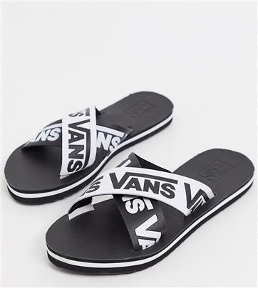 Vans - Slippers met kruisbanden in zwart
