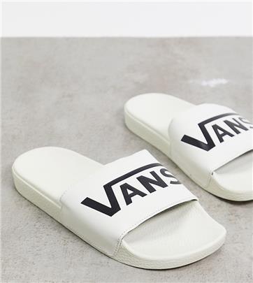 Vans - Instapslippers in crème-Wit