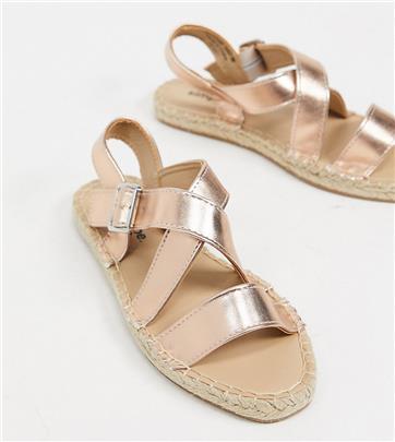 Simply Be extra wide - Sandalen met bandjes in goud