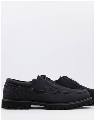 ASOS DESIGN - Bootschoenen van zwart imitatiesuède met dikke zool