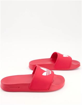 adidas Originals - Adilette Lite - Slippers in rood