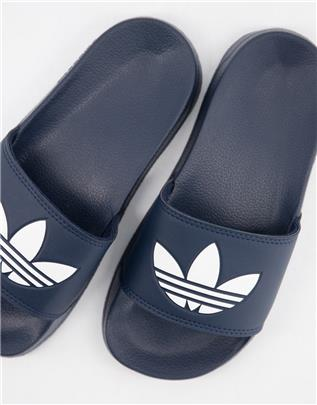adidas Originals - adilette Lite - Slippers in marineblauw
