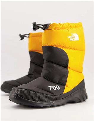 The North Face - Nuptse 700 - Laarzen in zwart/geel