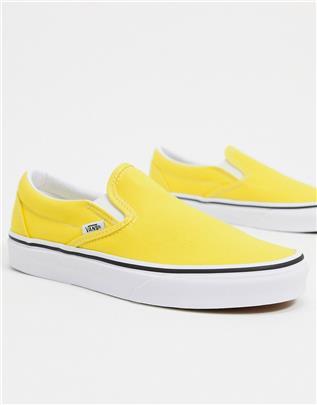 Vans - UA Classic - Instapsneakers in geel en wit