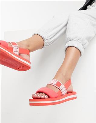 UGG - Zuma - Slingback sandalen in roze