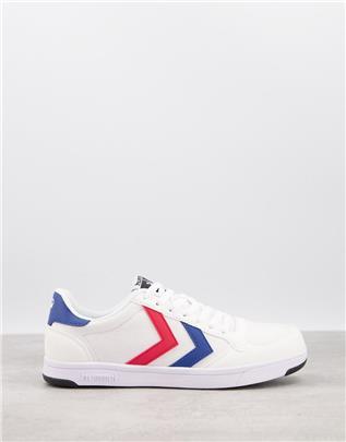 Hummel - Stadil - Sneakers van lichte canvas in wit