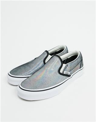 Vans - Prism - Instapsneakers van suède in zwart/wit-Multi