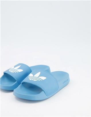 adidas Originals - Adilette Lite - Slippers in blauw-Wit