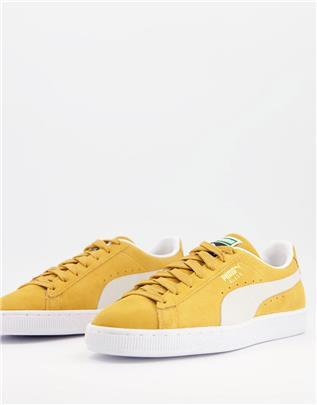 PUMA - Klassieke suède sneakers in goud