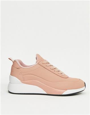 Vero Moda - Sneakers met dikke zool in roze
