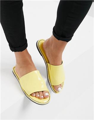 Vero Moda - Lakleren sandalen in geel