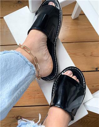 Vero Moda - Lakleren sandalen in zwart