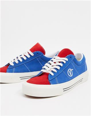 Vans - Sid - Tweekleurige gympen-Blauw