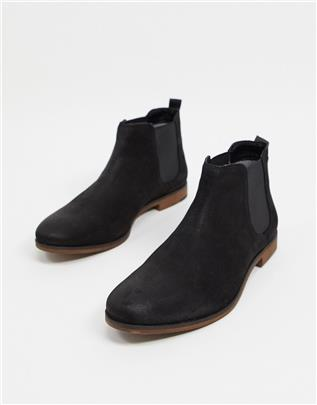 Red Tape - Leren chelsea boots tot de enkel in zwart