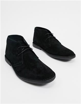 Red Tape - Suède chukka boots in zwart