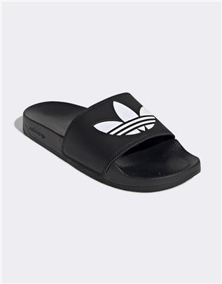 adidas Originals - Adilette lite - Slippers in zwart