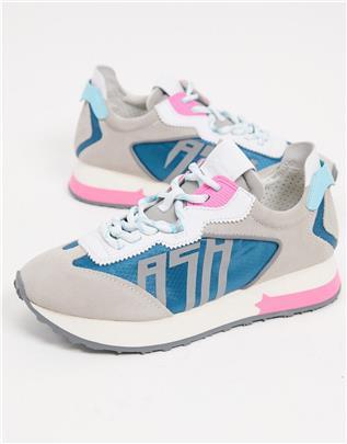 ASH - Tiger Runner - Sneakers in grijs multi