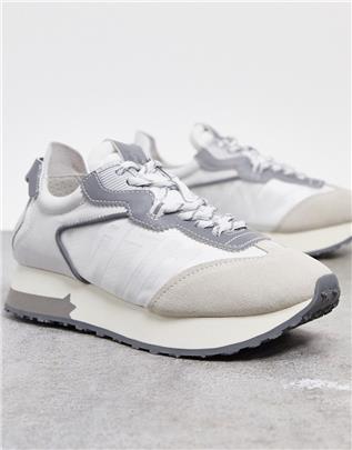ASH - Tiger - Hardloopschoenen in mix van grijs en wit
