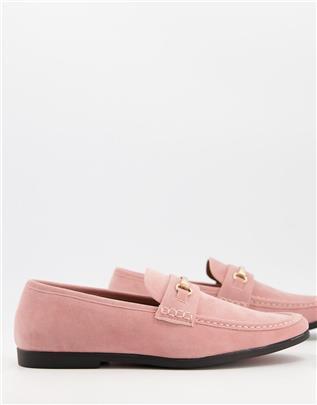 Truffle Collection - Loafers met metalen trens in roze