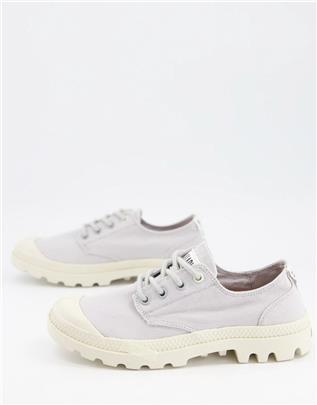 Palladium - Pampa - Casual sneakers van organisch katoen met veters in lila-Paars