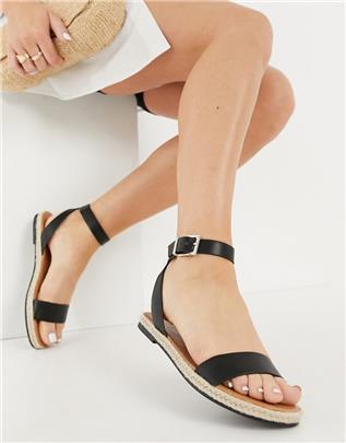 Call It Spring - Redlip - Tweedelige platte sandalen in zwart