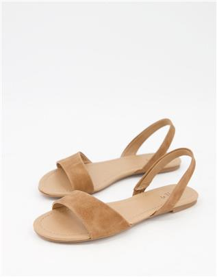 Call It Spring - Waliweth - Platte slingback sandalen in beige