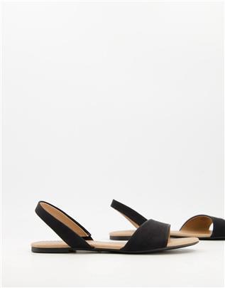 Call It Spring - Waliweth - Platte slingback sandalen in zwart