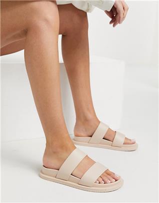 ASOS DESIGN - Friday - Platte jelly sandalen in beige