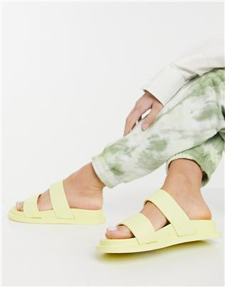 ASOS DESIGN - Friday - Platte jelly sandalen in geel