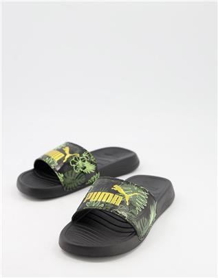 Puma - Popcat 20 - Zomerse slippers in zwart
