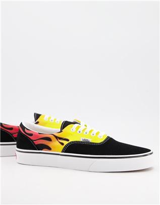 Vans - Era Flame - Sneakers in zwart/wit
