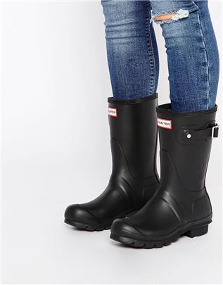 Hunter - Original - Korte zwarte laarzen