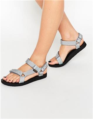 Teva - Original Universal Azura - Platte sandalen in lichtgrijs