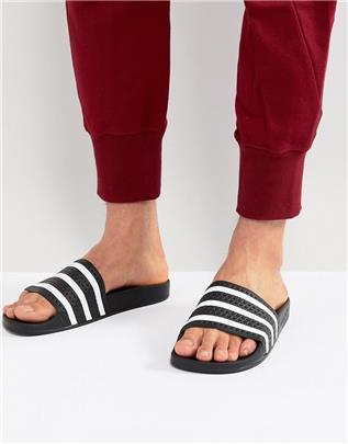 adidas - Originals Adilette - Slippers in zwart 280647