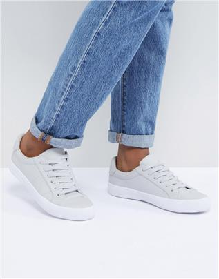 ASOS DESIGN - Devlin - Vetersneakers-Grijs