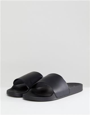 New Look - Slippers in zwart