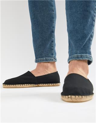 ASOS DESIGN - Espadrilles van canvas in zwart